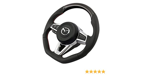 KEN Style Steering Wheel Carbon with Genuine Leather Red Stitches for MAZDA MX-5 ND 2016 elegant look to your MIATA
