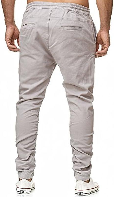 Tazzio Chino męskie spodnie do biegania Slim Fit Harem materiałowe spodnie stretch Designer Jeans: Odzież