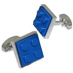 Blue Lego Brick Cufflinks | Cuffs & Co