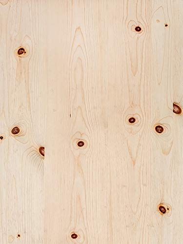 (Knotty Pine Veneer Plain Sliced Wood on Wood Backer 4' X 8' (48