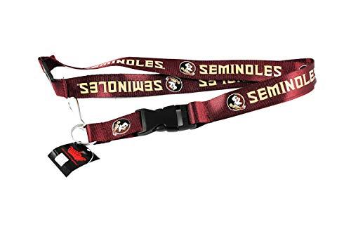 - NCAA Florida State Seminoles Sports Team Logo Lanyard Keychain Id Ticket Red