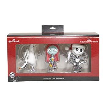 Hallmark Disney Nightmare Before Christmas Jack Sally Zero Ornament Set