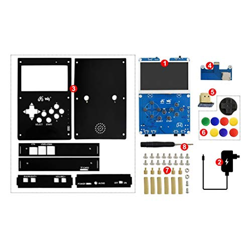 GamePi43 Accessories Pack Include Add-ons for Raspberry Pi to Build GamePi43 with 4.3inch IPS Display Integrates Battery Charge Circuitry