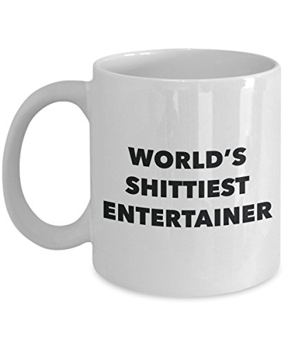 Entertainer Gift Basket - Entertainer Coffee Mug - World's Shittiest Entertainer - Gifts for Entertainer - Funny Novelty Birthday Present Idea - Can Add To Gift Bag Basket Box