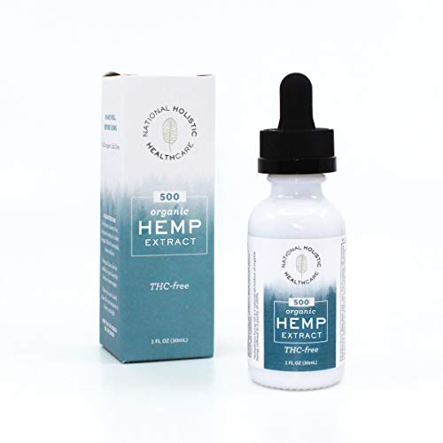 Organic Hemp Oil Drops, 500 MG, Natural Pain, Anxiety, Sleep and Stress Relief- THC Free, Lab Verified, Made in -