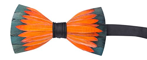 Brackish Feather Pre-tied Bow tie - Lotus (150-BRK)