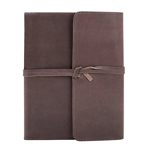 Back To School Supplies Leather Journal Diary Writing Notebook Personal Travel Diary Unlined Paper Sketchbook Doodle Art Book Recipe Book Organizer 8 x 6 Inches Anniversary Gifts For Him & Her from The Great Indian Bazaar