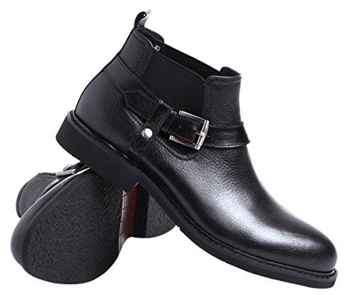 Boots Classic Chelsea by Santimon Shoes Boot Men black1 Duke For Buckles Side Ankle 0wxUzqR