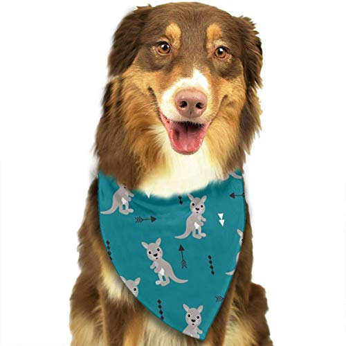 OURFASHION Kangaroo Cool Blue Adorable Geometric Bandana Triangle Bibs Scarfs Accessories for Pet Cats and Puppies ()