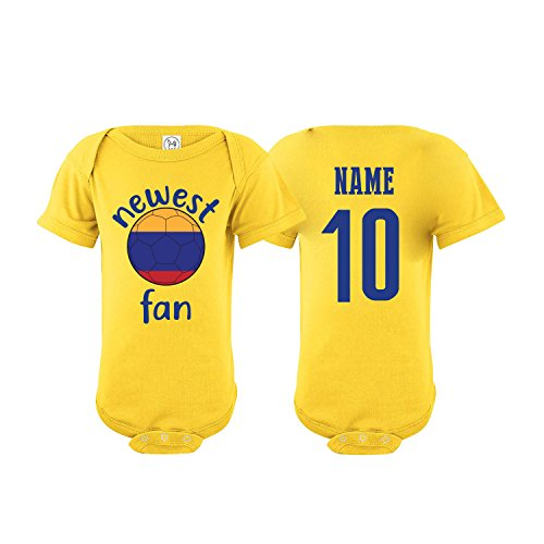 nobrand Colombia Bodysuit Newest Fan National Team Soccer Baby Girls Boys Customized (T-Shirt 4T)