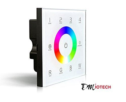 Controlador eDealMax de montaje en pared DC12-24V tctil a todo color para RGBW DMX tira del LED Lighting 16A 192W 384W 4 zonas 5 aos de garanta