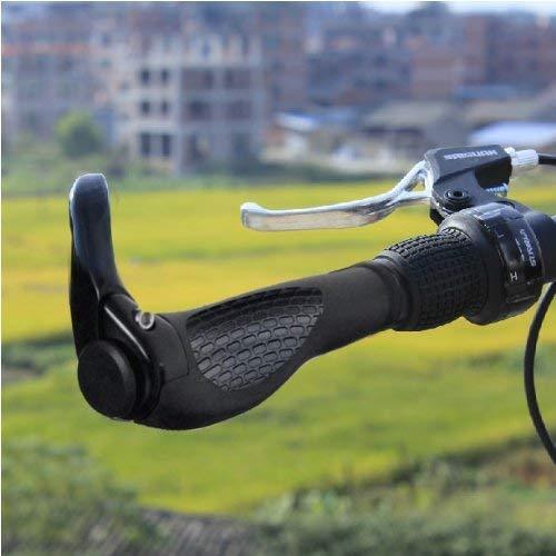 Coolty Pu/ños Manillar de Bicicleta de Monta/ña para Bicicletas Todo-Negro