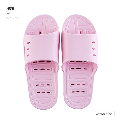 Pink 38 Stay Soft Slippers Fast Cool Couple fankou Exposed Bottom Slip Dry The Home Slippers in Female Bath Bath Water 37 Light Summer Anti qwZ1gAY