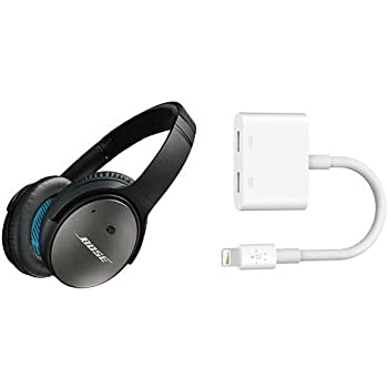 Bose Quietcomfort 25 Acoustic Noise Cancelling Headphones Apple Devices Black