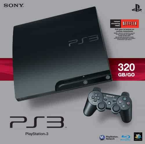 Sony PlayStation 3 Slim 320 GB Charcoal Black Console