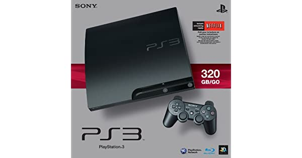 Amazon com: Sony PlayStation 3 Slim 320 GB Charcoal Black Console