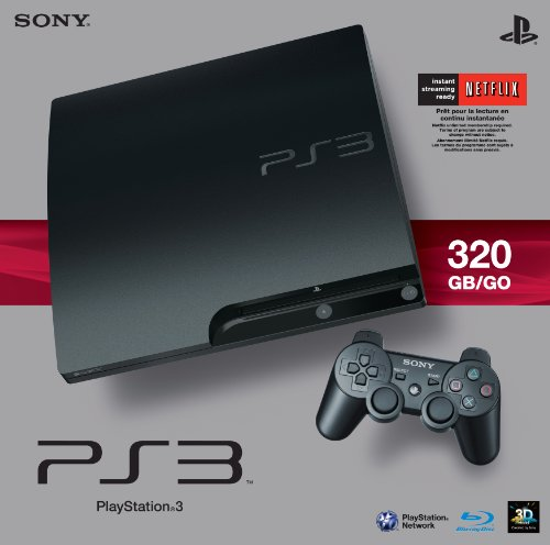 Sony PlayStation 3 Slim 320 GB Charcoal Black (Used Ps3)