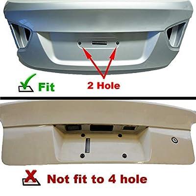 GTP Rear License Plate Base Mount Bracket for BMW 1/2/3/4/5/6 Series X1 X3 X4 X5 X6 Z4 & Mini Cooper 51187160607 & 511882380615 Tag Frame Holder + 6 Anti-Theft Screws & Wrench: Automotive