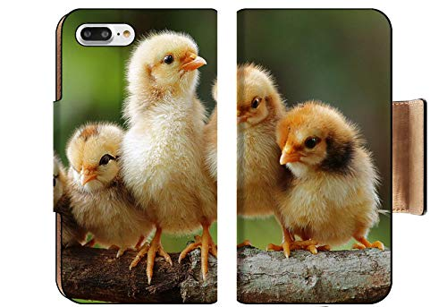MSD Apple iPhone 8 Plus Flip Pu Wallet Case Group Portrait of Cute Chicks Image 15252574 Customized Tablemats Stain Resistance ()