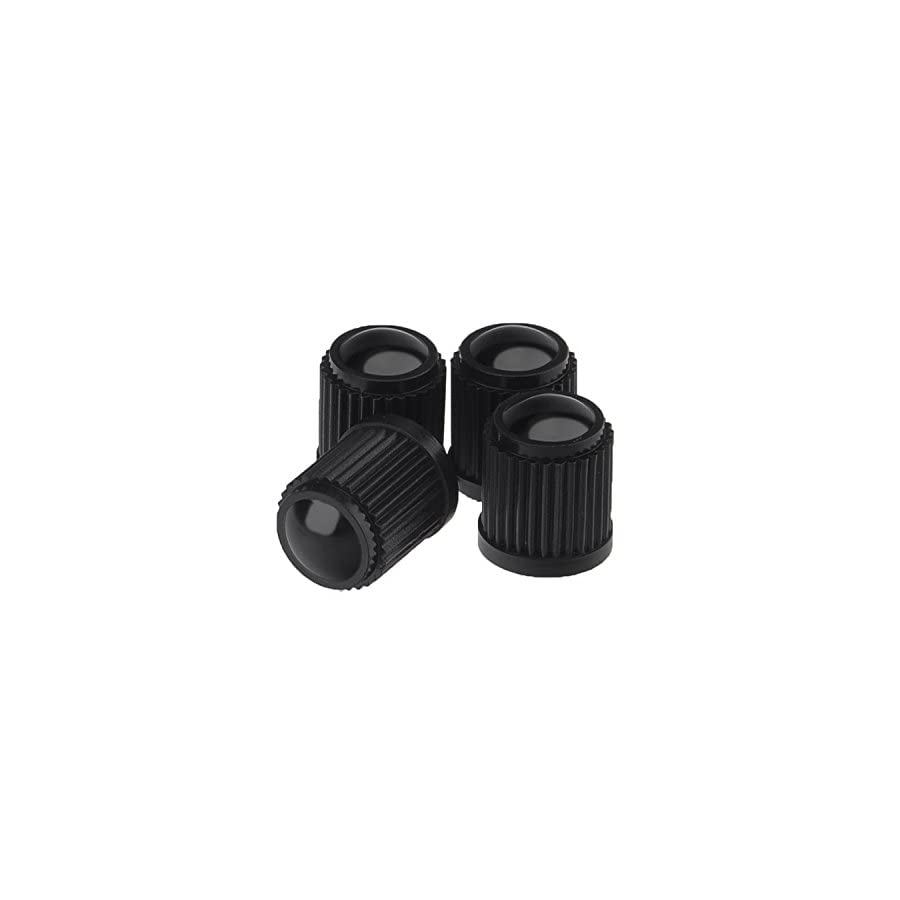 Sunmns 24 Pack Tyre Valve Dust Caps for Car, Motorbike, Trucks, Bicycle (Black)