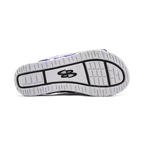 Boombah Herren Tyrant Digital Camo Slide Sandalen - 11 Farboptionen - mehrere Größen Schwarz / Lila