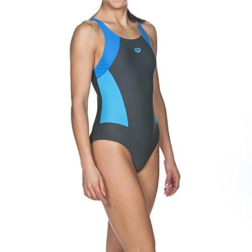 Arena Mujer Sport REM–Bañador Shadow Grey-Pix Blue-Turquoise