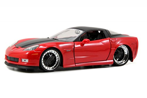 Jada Bigtime Muscle 2006 Chevy Corvette Z06 with Atomic Rims 1:24 Scale (Red)