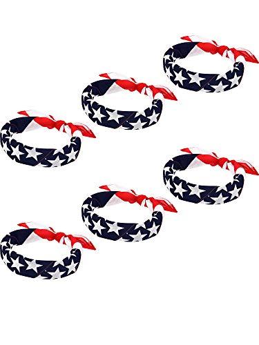 - Maxdot American Flag Bandanas USA Flag Headband Kerchief Unisex Cowboy Bandanas Patriotic Accessories (6)