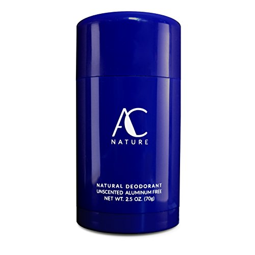 AC Nature Deodorant Stick, Aluminum Free Organic Ingredients, All Day Protection, Extra Strength and Unscented, 2.5 oz. ()