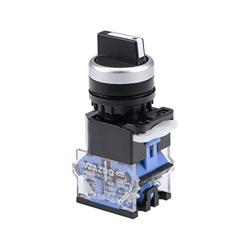 uxcell Rotary Selector Switch 3 Positions 2NC Momentary AC 660V 10A 22mm Panel Mount Set of 1