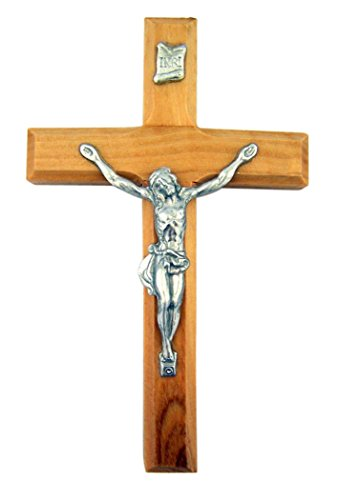 Olive Wood Jesus Christ Wall Cross Crucifix, 4 Inch