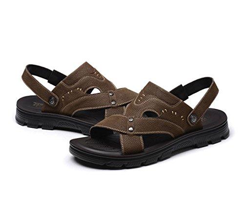 Playa Informal Zapatos Zapatillas Brown Hombres Plataforma Sandalias xnZCtU