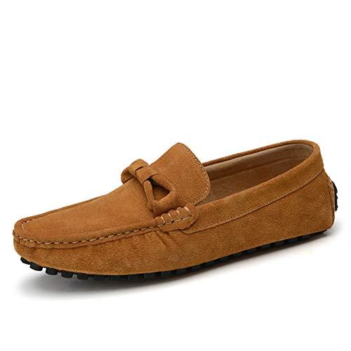 Primavera Ligeros Zapato Mocasines Suave Planos Hombres Bajos Cuero Zapatos Los Cómodos Y Conducción Moda Gpf Calzado one top Brown Otoño Slip fei De WTACw7YgqY