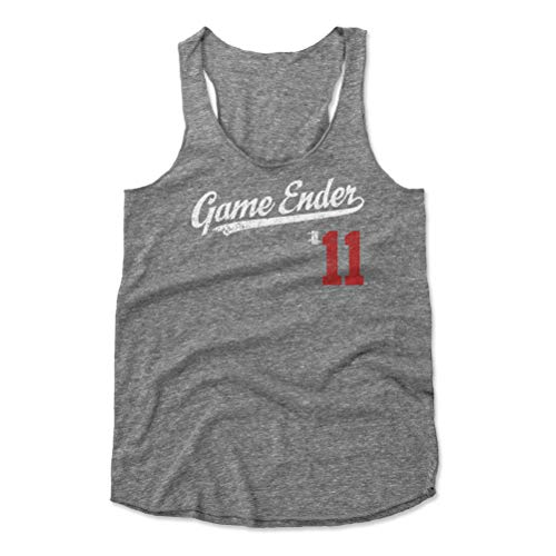 500 LEVEL Ender Inciarte Women's Tank Top Small Heather Gray - Atlanta Baseball Women's Apparel - Ender Inciarte Game Ender Players Weekend Script R WHT Atlanta Braves Ladies Player