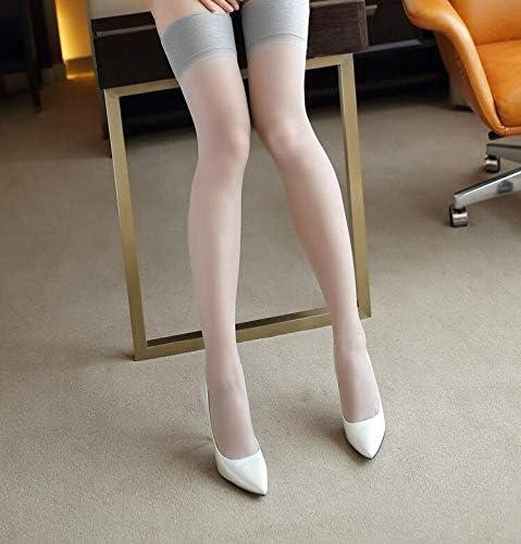 Women Suspender Ultrathin Sheer Lace Top Thigh High Silk Thin Stockings