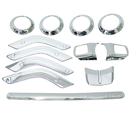 Bolaxin 12 pcs ABS Chrome Interior Trim Accent Kits Steering Wheel/Door Handle Cover Inner/Passenger Seat Handle/Centrer Console Air Outlet Trim Kit Set Decoration (Silver 12pcs)
