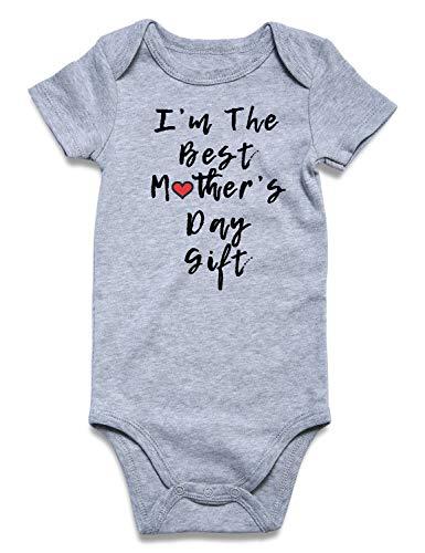 UNICOMIDEA Infant Romper,Baby Boys Girls Jumpsuit Mother's Day Funny Outfits Sunsuit Newborn Cotton Clothes,M]()