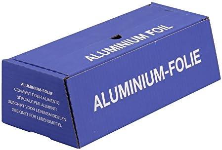 1x Alufolie, Spenderbox, Silber, Standard, Abreißschiene, 11 my, 30 cm x 150 m