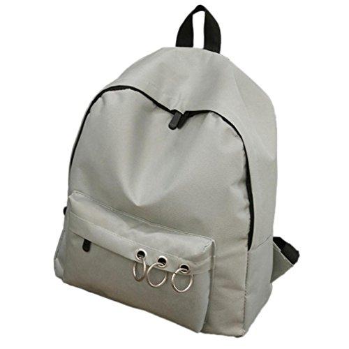Sonnena - Bolso mochila  de Lona para mujer Rosa rosa gris