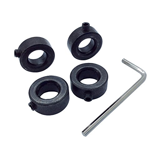 4Pcs SC45CS12 Carbon Steel Shaft Collars Bore 12mm Outsize 21mm Screw Style