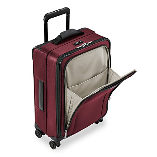 Briggs & Riley Transcend-Softside Carry-On Spinner Luggage, Merlot, 22-Inch