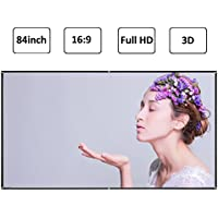 EUG 84 inch 16:9 Diagonal DIY Portable Projector Screen Outdoor Movie HD PVC Projection Screen Matte White for Home Cinema Meeting Projector Accessories