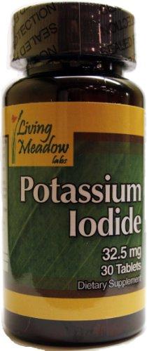 32.5mg iodure de potassium, 30 onglets Protège-la thyroïde dans une situation d'urgence radiologique