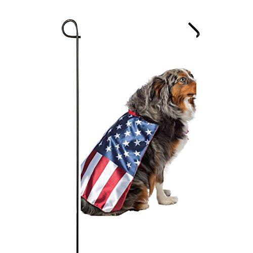 SHUIZHIQING Dog's United States Flag Costume Garden Flower Double Side Premium Home Flag Weather Resistant
