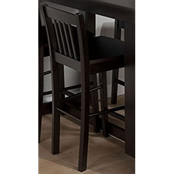 Slat Back Counter Height Stool