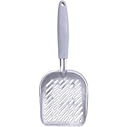 OMEM Large Size Litter Scoop, Aluminum Alloy Material Rubber Handle, Comfortable and Durable