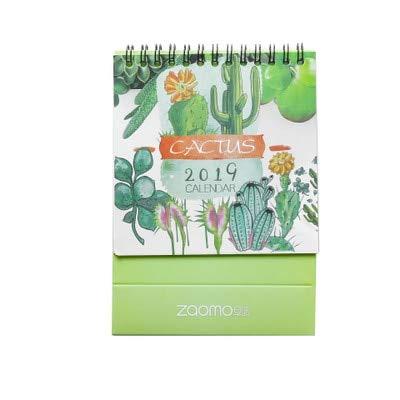 2019 Año Encantador Kawaii Cactus Pingüino Gato Cerdo Mini Calendarios de Mesa Escritorio Calendario Oficina Material