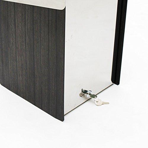 KATANABOX ''Mega'' - Stainless Steel Post-Mount Modern Design Mailbox, Lockable (Red) by KATANABOX (Image #6)