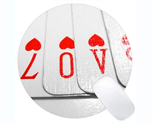(Customized Rubber Mousepad, Love Card Rubber Mousepad Stitched Border)