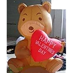 5' INFLATABLE VALENTINES DAY BEAR HOLDING HEART YARD DECORATION